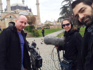 Christian Feiland und Ceyda Kalafatcioglu - Journalisten